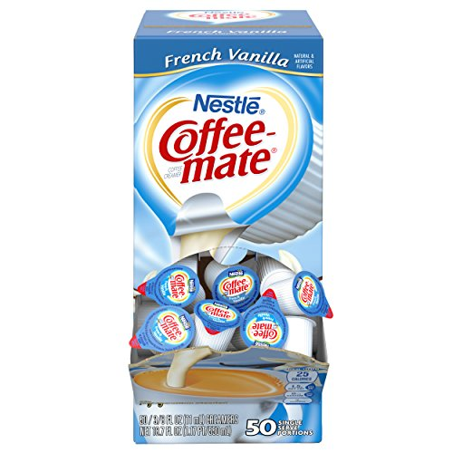 Nestle Coffee-mate Coffee Creamer, French Vanilla, 0.375oz Liquid Creamer Singles, 50 Count