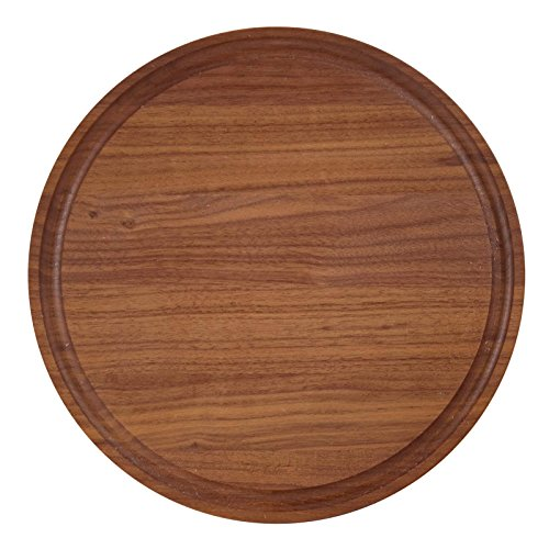 BigWood Boards W100-NI Cutting Board, Round Cutting Board, Small Round Cheese Board, Walnut Wood Serving Tray