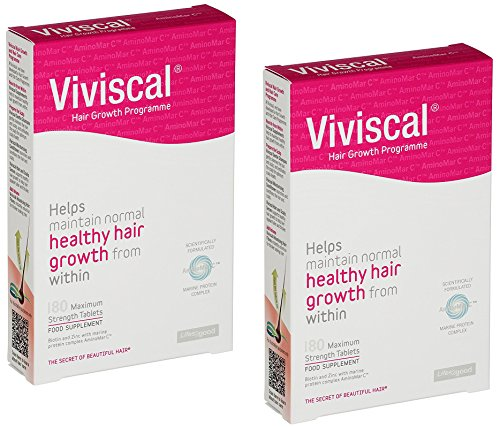 Viviscal Stimulating Extra Strength Hair Nutrient Tablets | 360 Easy Swallow Tablets ( x2 180 Count Boxes)| 6-Month Treatment Value Pack by ViviscalHairRegrowth (Image #6)