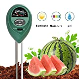 SUNNIOR Soil PH Meter, 3-In-1 Plant Soil Tester Kit With PH, Light & Moisture acidity Meter Tester Great Plants Care Tool for Farm, Lawn, Flowers, Vegetable Indoor/Outdoor (No Battery needed)