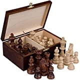 Staunton No. 6 Tournament Chess Pieces w/ Wood Box