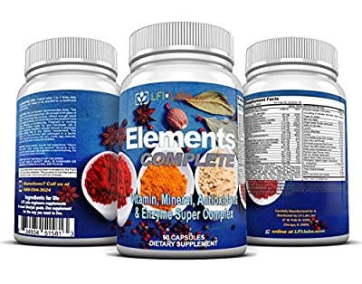 LFI Elements Complete - The Most Complete Vitamin-Mineral-Antioxidant-Probiotic-Enzyme-Superfood Blend. The ultimate All-In-One.