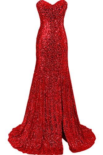 Promkleid Ivydressing Stil Festkleid Abendkleid Meerjungfrau Ausschnitt Damen Luxurioes Rot Herz qxYrxwt