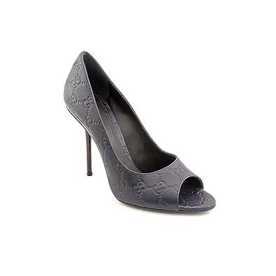 3823a562c5e02 Gucci 247521 Open Toe Pumps Heels Shoes Womens New/Display: Amazon ...