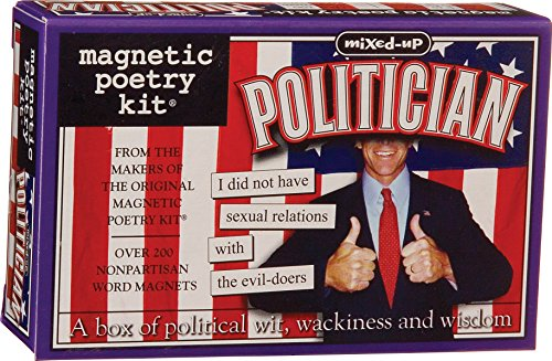 Magnetic Poetry - The Politician Kit - Words for Refrigerator - Write Poems and Letters on the Fridge - Made in the ()