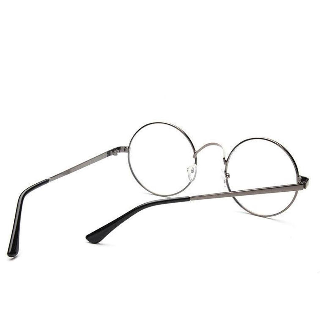 93fc701bf70 Amazon.com  DEESEE(TM) Unisex Classic Metal Frame Mirror Rounded Glasses  (As the picture