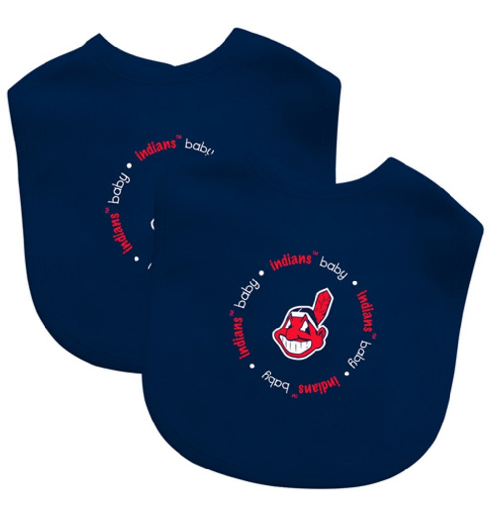 Baby Fanatic Team Color Bibs, Cleveland Indians, 2-Count