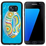 Luxlady Premium Samsung Galaxy S7 Edge Aluminum Backplate Bumper Snap Case IMAGE ID 20989604 Colorful inflatable ball and round tube floating in swimming pool