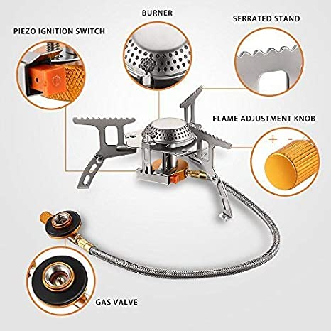 Backpack Stove Terra Hiker 3500 W Camping Gas Stove Portable Burner with Carrying Case Durable with Convenient Piezo Ignition