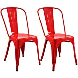 Big Lots Bar Stools Set of 2 Metal Steel Stools Vintage Antique Style Counter Chair Bar Stools Scratch resistant Red #745