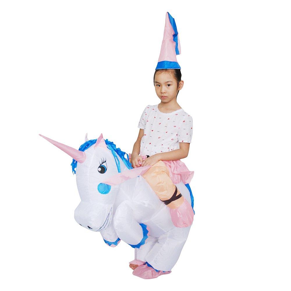 Anself Costume de Gonflable Cheval Mignon Enfants Blow Up Fancy Dress Party Festival Belle Gonflable Pegasus Costume d'Animal pour les Enfants