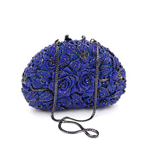 Sac Blue Diamant Main Mesdames Soirée Parti à Sac De Soirée vwBnqd