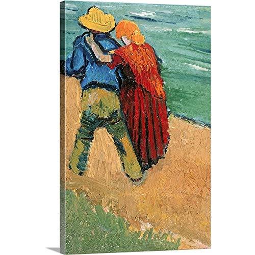 "Vincent (1853-1890) Van Gogh Premium Thick-Wrap Canvas Wall Art Print Entitled A Pair of Lovers, Arles, 1888 24""x36"""