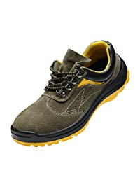 Optimal Mens Moc Toe Construction Leather Work Boots