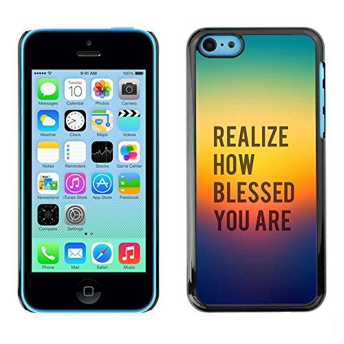 DREAMCASE Citation de Bible Coque de Protection Image Rigide Etui solide Housse T¨¦l¨¦phone Case Pour APPLE IPHONE 5C - REALIZE HOW BLESSED YOU ARE