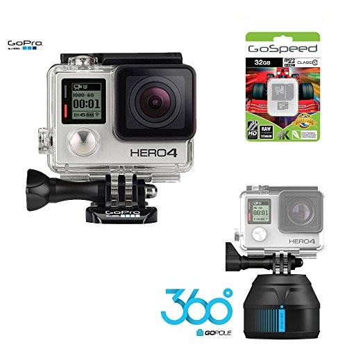 GoPro-Hero4-Hero-4-BLACK-12MP-Full-HD-4K-30fps-1080p-120fps-Built-In-Wi-Fi-Waterproof-Wearable-Camera-Adventure-32GB-Edition-with-GoPole-Scenelapse-360-Time-Lapse-Device