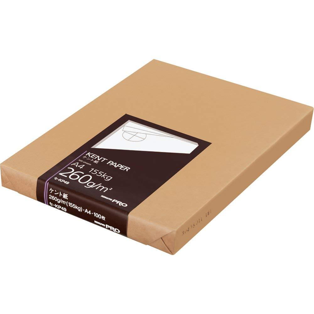 コクヨ 高級ケント紙 A4 100枚 紙厚260g セ-KP49 【まとめ買い3冊セット】   B07PQRXG4K