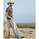 #8: Kenny Chesney Photo 8 inch x 10 inch PHOTOGRAPH Back Where I Come From Blue Sky Leaning on Car kn