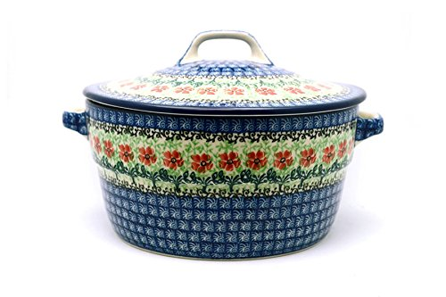 (Polish Pottery Baker - Round Covered Casserole -)