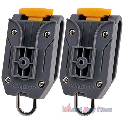 Repertory Storage - Lot of 2 Pcs Universal Komelon Measuring Tape Waist Belt Clip Holder with Tools Hanger Ring for Engineers Measurement Work Carrier Storage