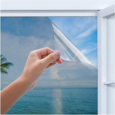 Privacy Window Film Homegoo One Way Silver Reflective Adhesive Window Film Anti Uv Heat Control Sun Blocker Privacy Protection Glass Tint Sticker 44 5 X 200 Cm 17 5 X 78 7 Inch Amazon Co Uk Kitchen