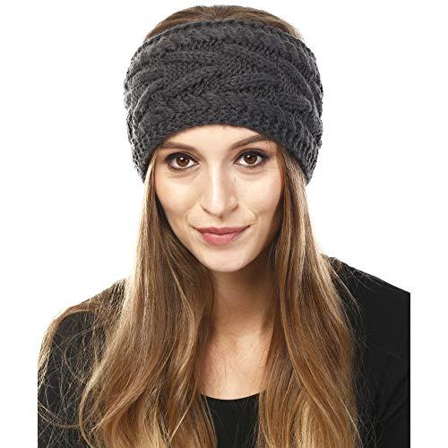 by you Womens Soft Knitted Winter Headband Head Wrap Ear Warmer