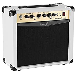 neewer 20 watt electric guitar combo amplifier with 3 band eq 2 channels ideal for. Black Bedroom Furniture Sets. Home Design Ideas