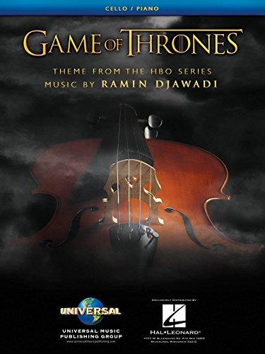Juego de Tronos Tema arreglados para violonchelo y piano–partituras individual