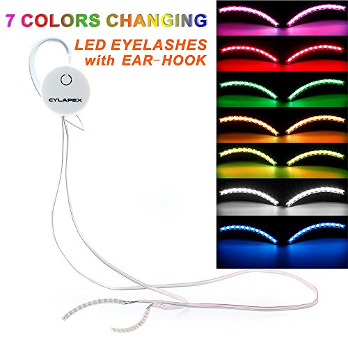 CYLAPEX Color Changing LED Eyelashes Interactive False Lashes