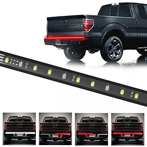 YINTATECH LED Tailgate Light Bar Strip 60 Inch 150CM 12V DC Red and White 3528-108 SMD LEDs Flexible Tail lighting Compatible for Car Truck Brake Running Reverse Turn Signal Lights Lamp