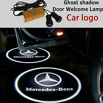 Proyector LED con el logo de Mercedes para las puertas del ...