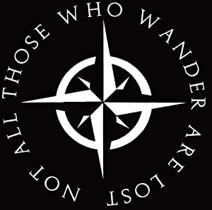 "H-Tradings LOTR Not All Those Who Wander are Lost Sticker Decal Notebook Car Laptop 5"" (White) Approximately"