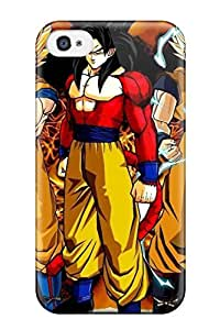 Barbauller Fashion Protective Dragon Ball Z Goku Ssj4 Case Cover For Iphone 4/4s