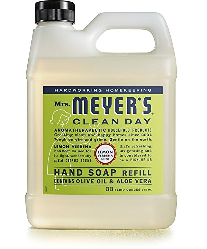Mrs. Meyer's Clean Day Liquid Hand Soap Refills, Lemon Verbena, 34-Ounce (Pack of 6) ()