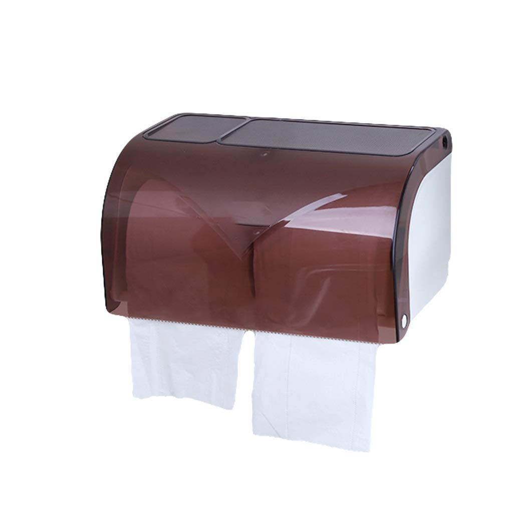 Tissue Box MAHONGQING Toilet Toilet Toilet Furniture Storage Box No Holes Waterproof Wall Hanging Creative Paper Rack (Color : B)