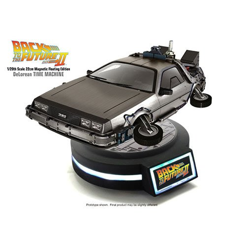 "Kids Logic 1/20 Magnetic Floating DeLorean Time Machine ""Back To The Future Part II"" Action Figure"