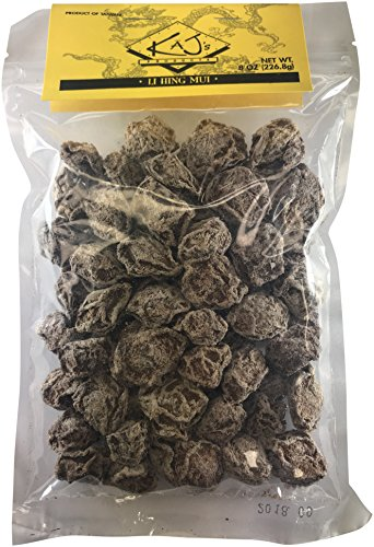 Kajs Sweet White Dried Plums (8 oz.) Li Hing Mui Hawaiian Fruit Snack | Preserved, Delicious