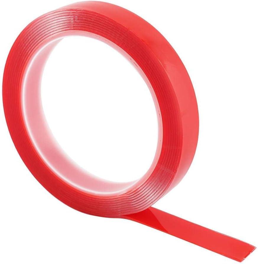 Cinta Adhesiva Super Pegajosa Transparente para Papel Tapiz Cinta Adhesiva de Doble cara Resistente a Prueba de Agua Cinta Adhesiva de Doble cara Fotos Manualidades Resistente al Agua 15 mm