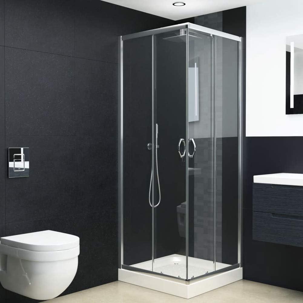 SOULONG 80x80x185 cm Mamparas baño Pantalla para bañera de Vidrio ...