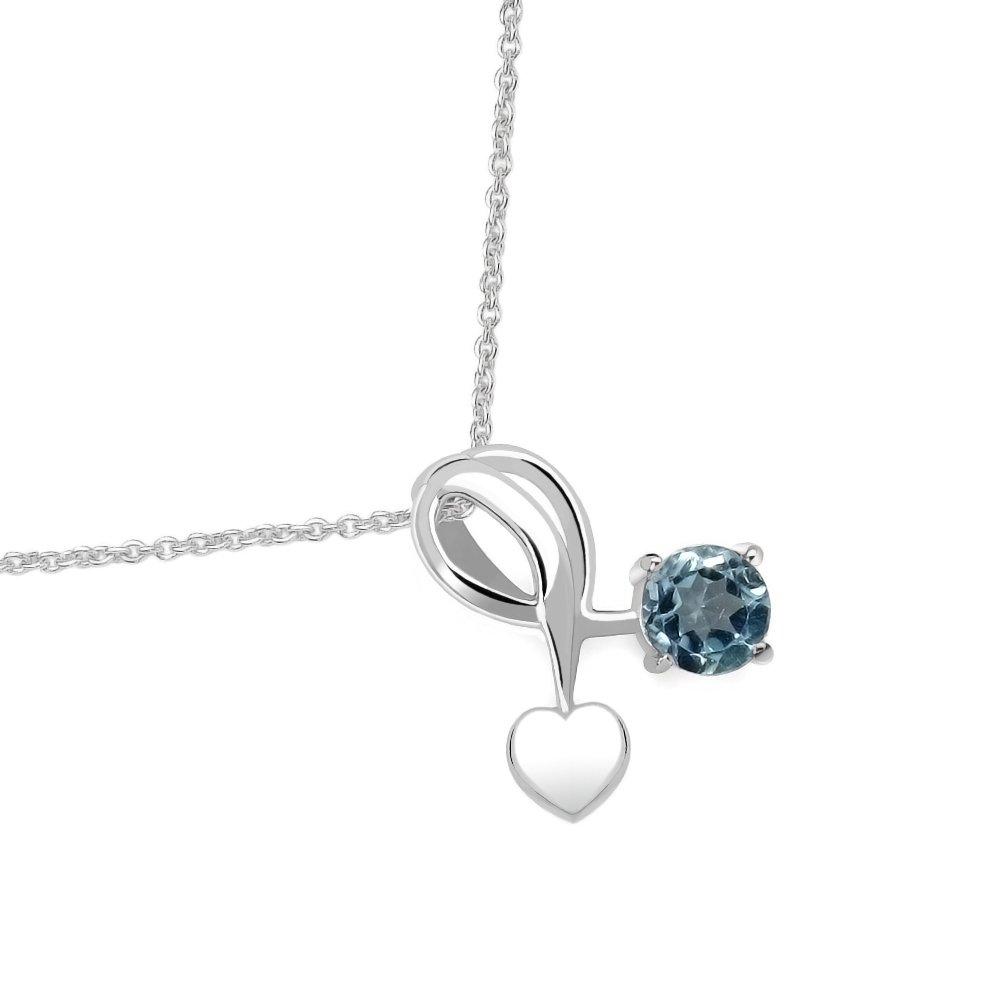 Silvancé - Damenschmuck Collier - 925 Silber, rhodiniert - echte Edelsteine zur Auswahl Tricolour e.K. (DE) P495GFR