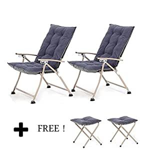 Amazon Com Campland Deluxe Padded Reclining Chair With