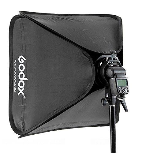 Godox 80x80cm Softbox Bag Kit for Camera Studio Flash fit Bowens Elinchrom Mount by Godox