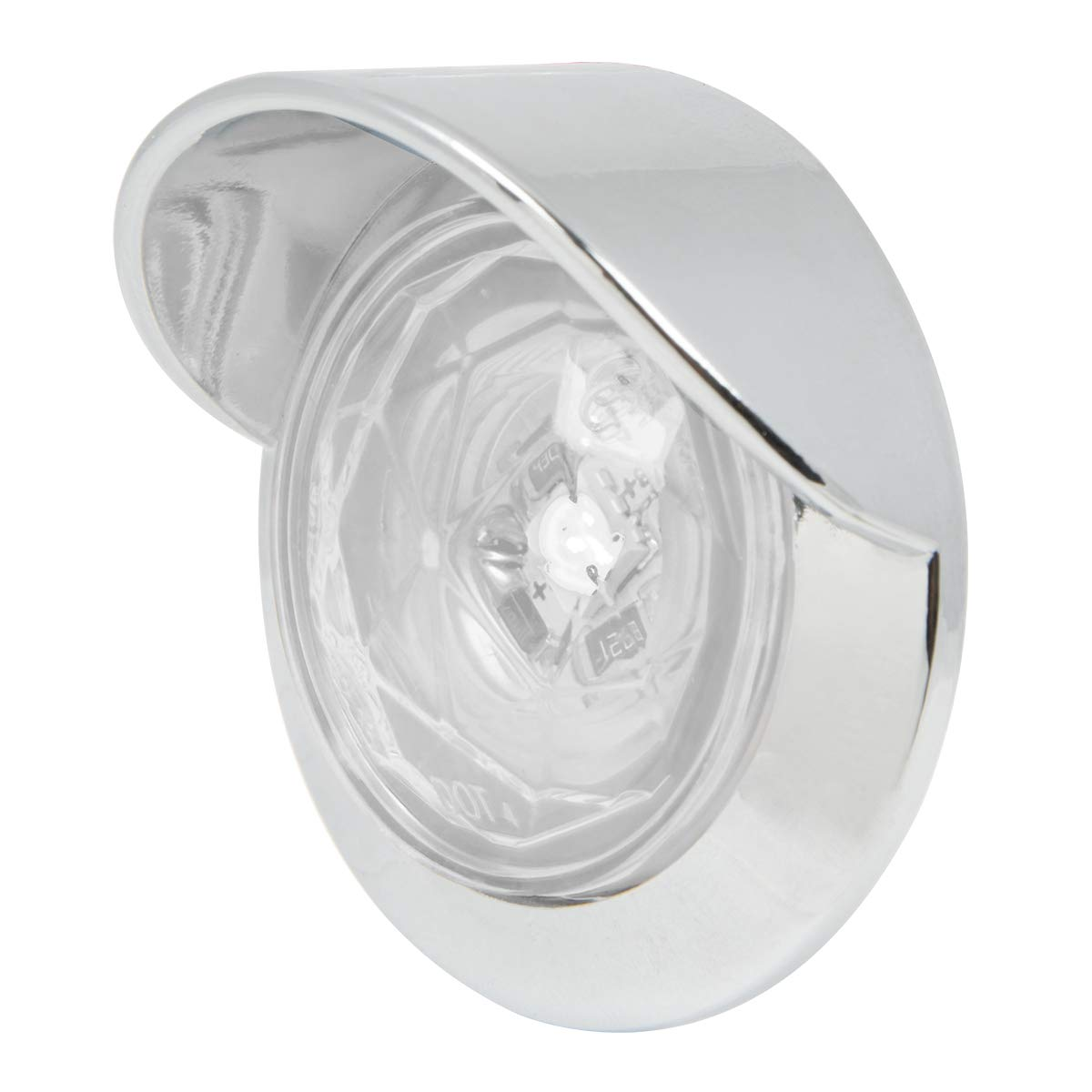 GG Grand General 75334 Light 1-1//4 White Diamond 1LED Dual Fn. with Clear Visor Bz