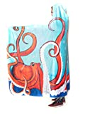 Electro Threads Hooded Blanket - Wildlife/Nature (Deep Sea, Micro Fleece)