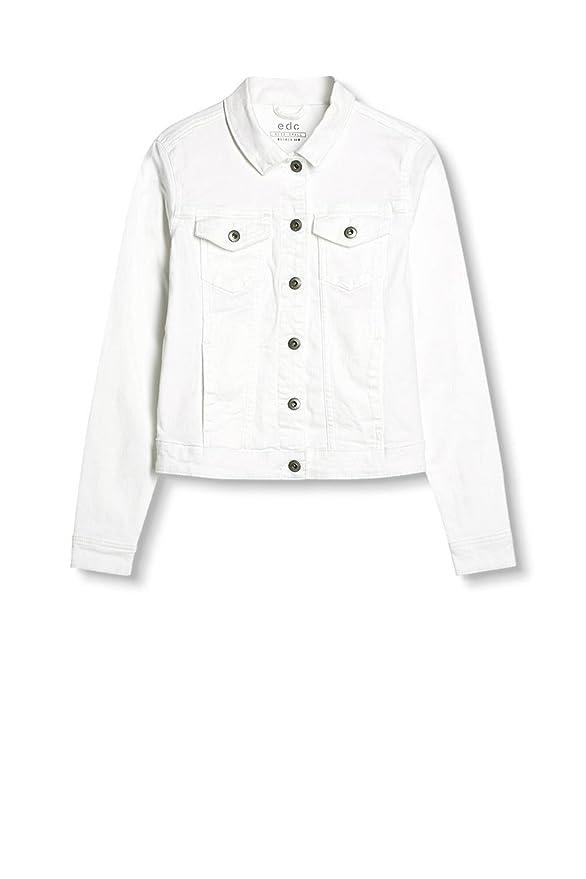 by 34 Taille White edc 027cc1g025 Blouson Blanc Esprit Femme PwCp4qRx