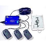 Cloud ElevenⓇ DJI MAVIC pro用 5in1(バッテリー×3/USB×2) 急速充電器 Rapid Battery Charger Smart Multi Battery Intelligent Charging Hub for DJI MAVIC pro