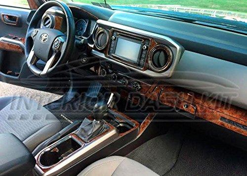 (TOYOTA Tacoma Quad CAB 4 Door Interior BURL Wood Dash Trim KIT Set 2016 2017 2018 2019)