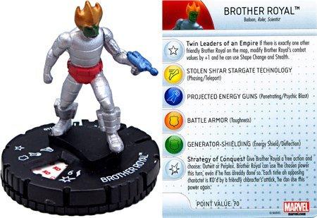 Marvel Heroclix: Guardians of the Galaxy Set Brother Royal #014b B00MQ5SY3C