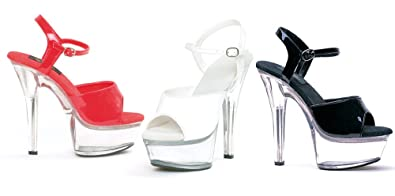 Schuhes   Ellie Schuhes  Damens's 6 Inch Heel Sandale With Clear ... b8b05b