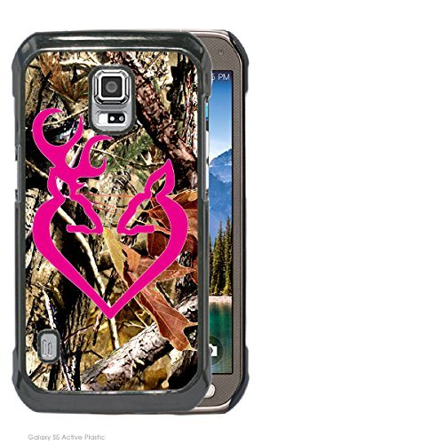 Accy Cases - Real Tree Camo Buck Hot Pink Buck Love Samsung Galaxy S5 Active Cell Phone Case